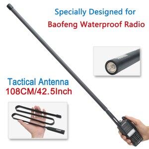 Image 1 - ABBREE AR 152 SMA Женская VHF UHF тактическая антенна для Baofeng UV 9R Plus UV XR BF 9700 Водонепроницаемая рация Двусторонняя радиосвязь