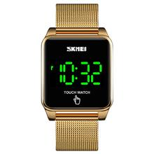 SKMEI Square Touch Screen Men Digital Watches Simple LED Display 30M Wa