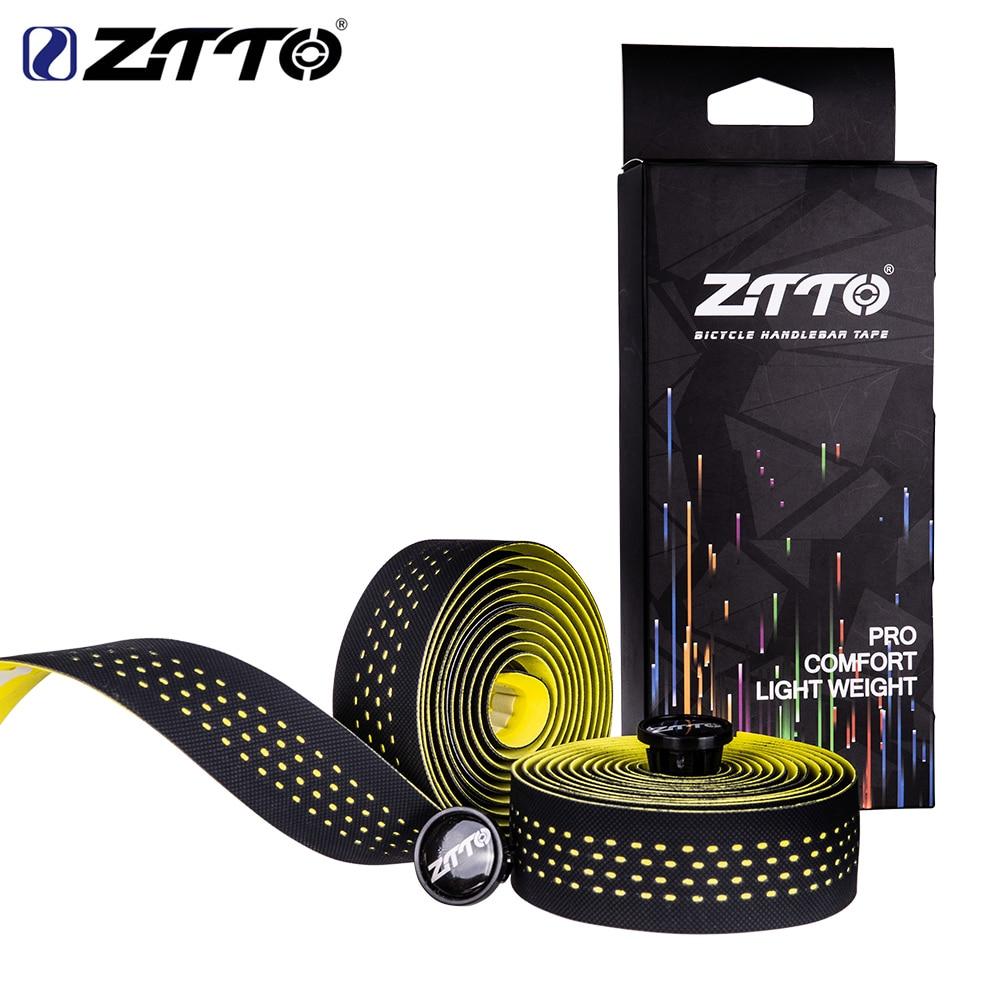 ZTTO Soft Road Bicycle Handlebar Tape Cork EVA PU Bar Tape Professional Cycling Damping Anti-Vibration Wrap With 2 Bar Plug
