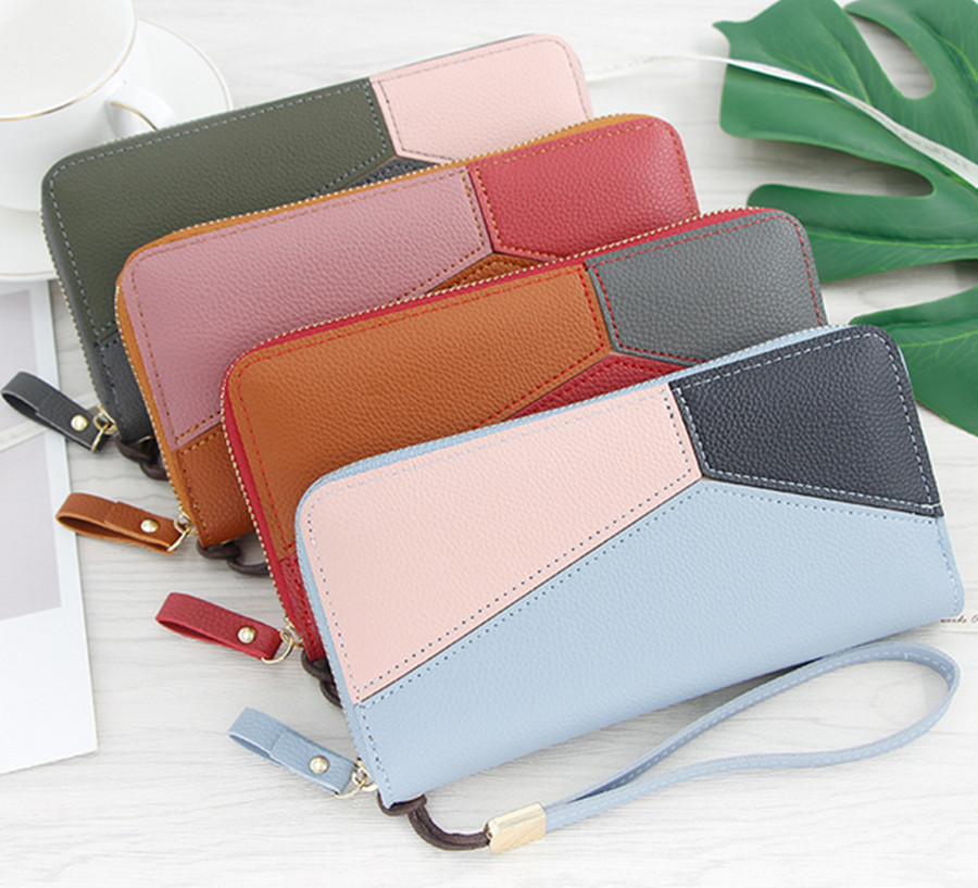 3 Color Tassel Chain Wallet Clutch Bag Lady S Outdoor Fashion Trend Solid Color Tassel Leather Card Wallet