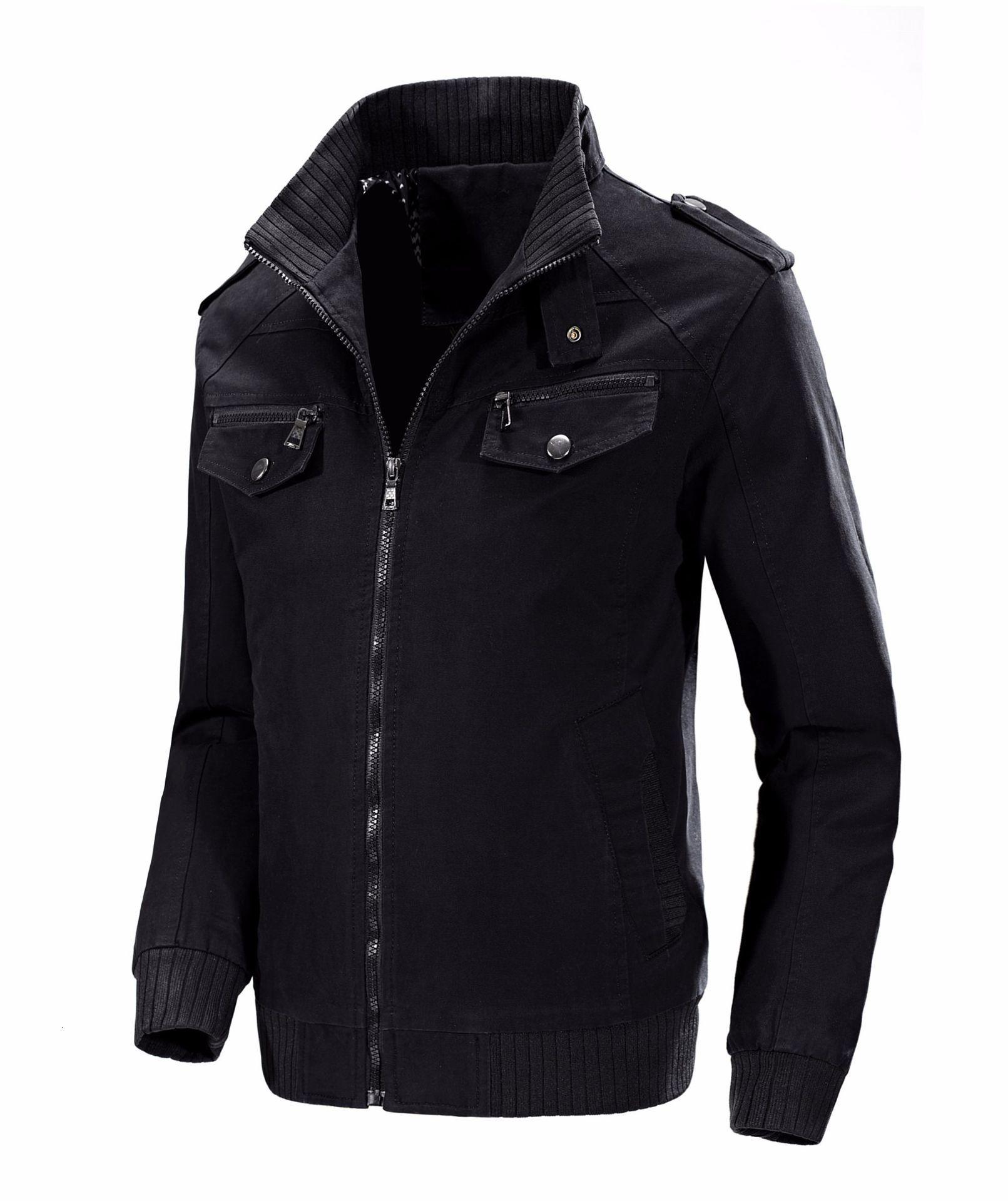 KOSMO MASA, хлопковая куртка бомбер, Мужская ветровка, Военный стиль, 4xl, черный цвет, весна осень, повседневная мужская куртка и пальто для мужчин... - 5