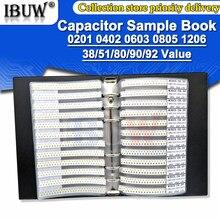 950PCS 2550PCS 4500PCS 0201 0402 0603 0805 1206 Capacitor amostra livro ibuw 100pf SMD Kit Sortido 10uf 1nf 10nf
