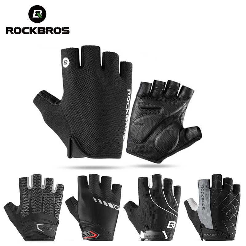 ROCKBROS PRO Cycling <font><b>Gloves</b></font> Half Finger Breathable MTB <font><b>Mountain</b></font> <font><b>Bike</b></font> Motorcycle <font><b>Gloves</b></font> <font><b>Gel</b></font> Pad Shockproof Bicycle Sport <font><b>Gloves</b></font> image