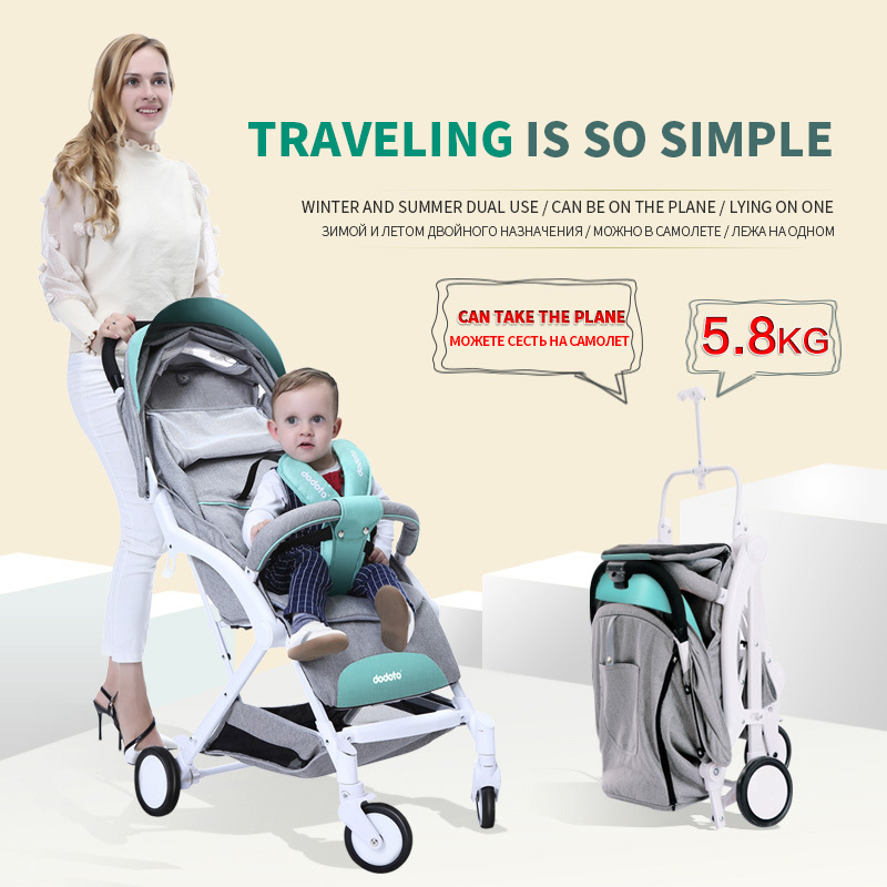 Baby Cart  Super Light  The Portable  Four-wheel  Pocket Cart  A Key To Collect  Can Sit Can Lie  Can Be Boarding