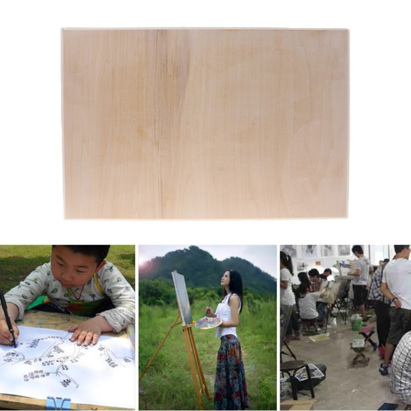New A3 Size Wooden Sketching Drawing Board Art Painting Table Sketchpad Palette 8 K