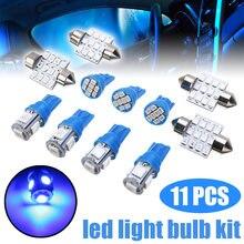 11 шт светодиодный t10 w5w 31 мм 12 В синий Автомобильный фестон