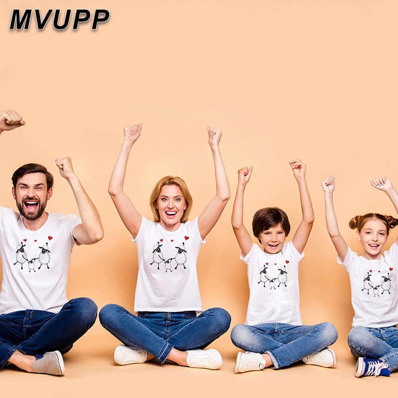 Meu pai mãe filha filho t-shirts casual tshirts roupas roupa roupa de verão eid al-adha imprimir família combinando camiseta