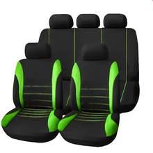 Dropship 9 pçs universal durável estilo conjunto completo assento cobre pano assento dianteiro acessórios interiores autom protetor de assento capa