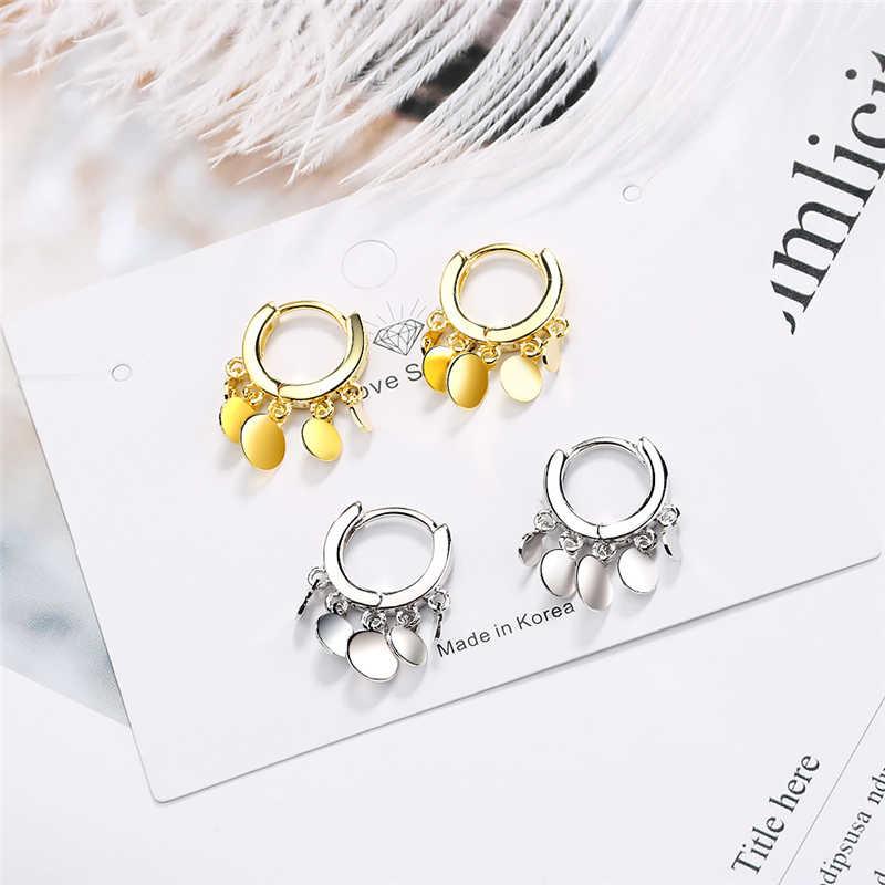 2020 nuevo pendiente bonito para mujeres niñas cuentas pendientes estrella borla Color dorado plata pequeño Huggie aro pendiente Oorbellen regalos