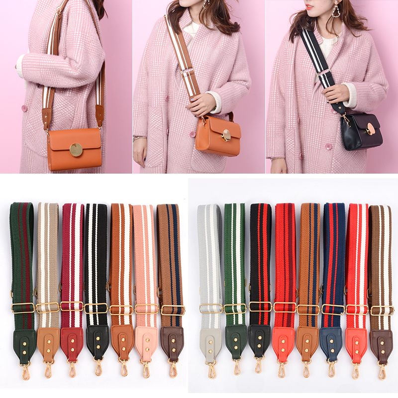 Fashion Widened Bag Shoulder Straps Diagonal Shoulder Shoulder Bag Straps Accessories Backpack Strap Color Striped Bag Obag