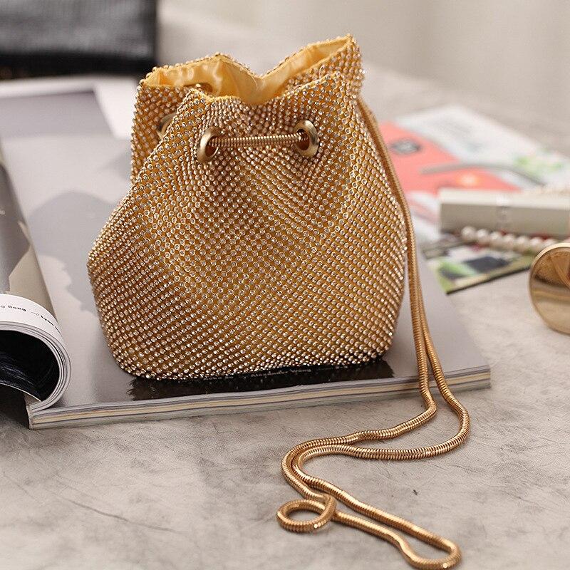 Creative Design Of Fashionable Diamond-inlaid Chain Single-shoulder Bag Handbag