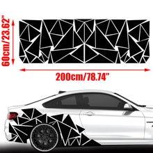 1 шт матовые черные треугольники боковая наклейка для автомобиля