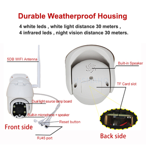Image 4 - HISMAHO WIFI Camera 1080P HD Outdoor Speed Dome PTZ IP Camera Two Way Audio Thuis Cctv Surveillance Onvif p2P CamHi APP