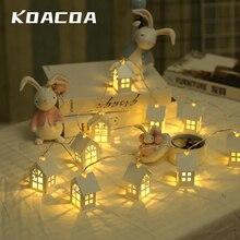 1,5 M 10 stücke LED Weihnachten Baum Haus Stil Fee Licht Led String hochzeit natal Girlande Neue Jahr weihnachten dekorationen für home