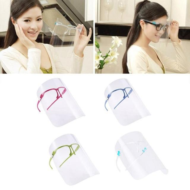 transparent mask Safety Kitchen Cooking Anti-Oil Splash Clear Face Cover Mask Protector Kitchen Accessories Random Color