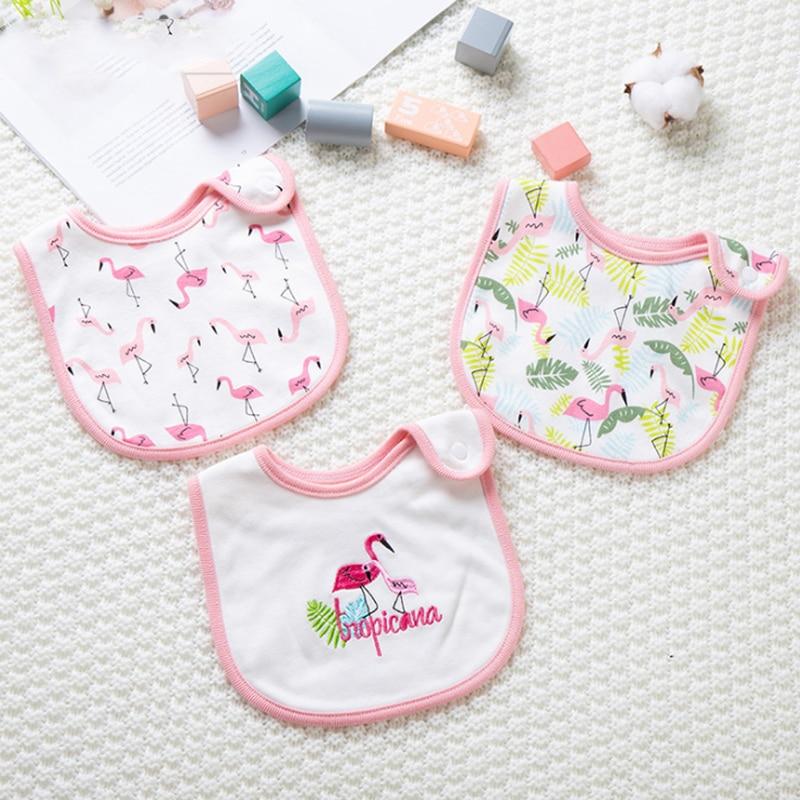 Cotton Waterproof Baby Bib Bib Bib Baby Bib Button Saliva Towel 3 Suits