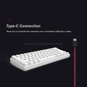 Image 5 - Anne Pro2 60% Bluetooth 4.0 type c RGB 61 touches clavier de jeu mécanique commutateur cerise commutateur Gateron