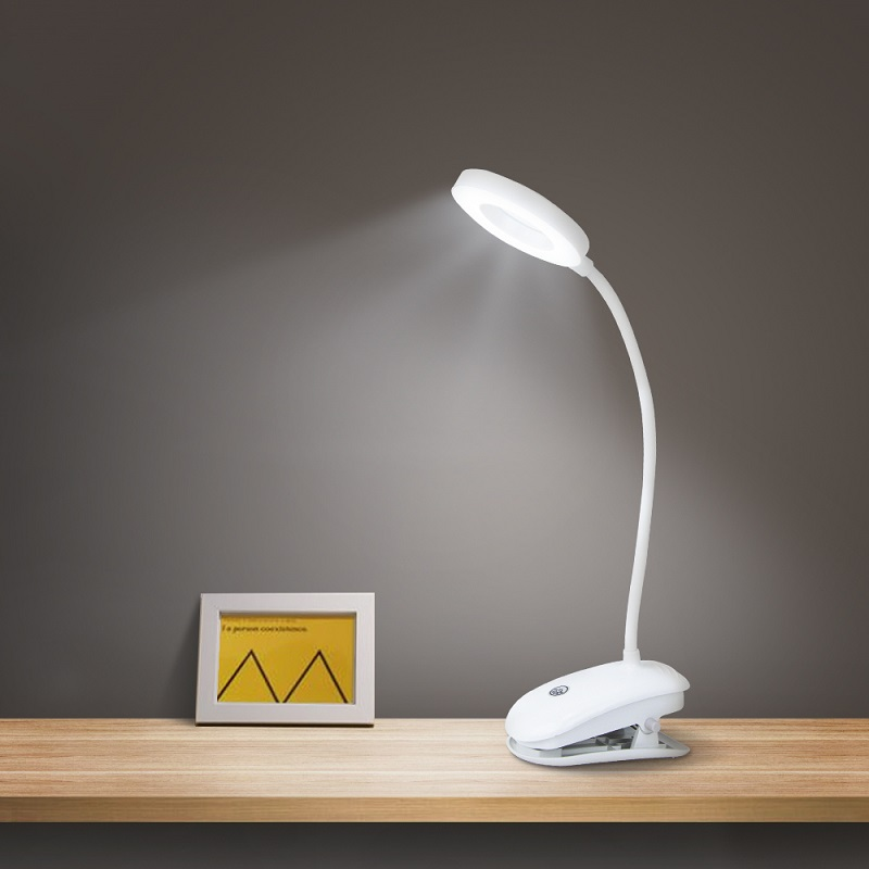LED Clip Desk Lamp Touch On Off 3Modes Rotatable Dual Head 7000K Eye Protection LED Table Reading Light for Readers Students in Desk Lamps from Lights Lighting