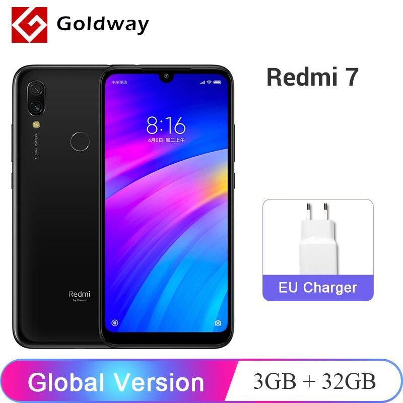 ¡En Stock! Versión Global Xiaomi Redmi 7 3GB RAM 32GB ROM teléfono móvil Snapdragon 632 Octa Core 12MP 6,26 4000 mAh de la batería