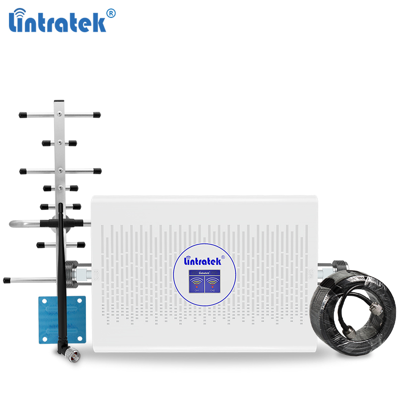 Lintratek GSM 2G 3G 4G Signal Booster 2G 4G Repeater 900 1800MHz Dual Band 2G 3G 900 2100 Amplifier GSM LTE 70dB + 12dB AGC