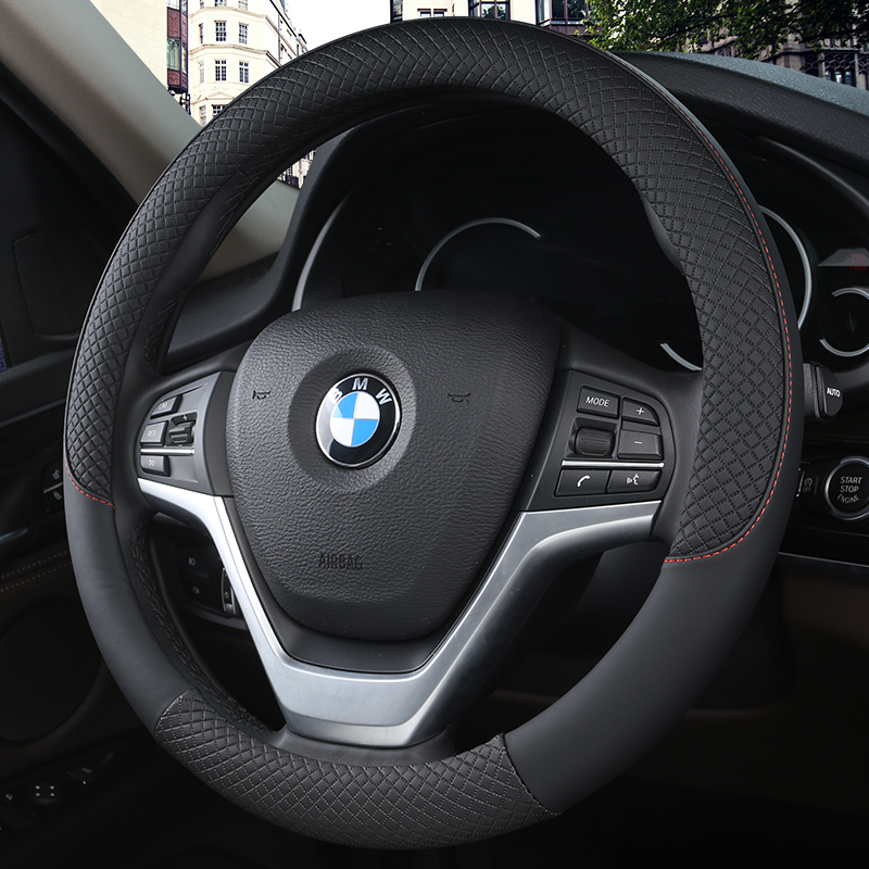 Car Steering Wheel Covers Anti-Slip Leather Sport Auto Steering-wheel Cover cars Steering wheel protective cover Car-styling title=