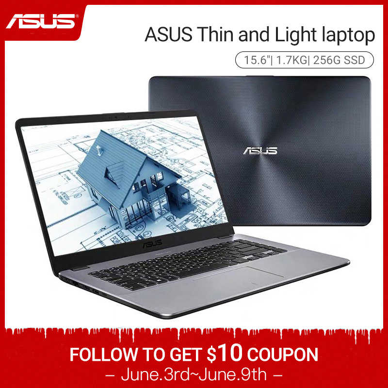 Asus Notebook K505 Ultrabook Laptop (AMD A6-9225/256G SSD/15.6 ''Layar) игровой Ноутбук Нетбук Tipis dan Ringan Laptop