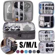 Data Cables USB Cosmetics Portable Zipper Travel Digital Storage Bag Closet Organizer Case for Headphones Storage Bag Charger