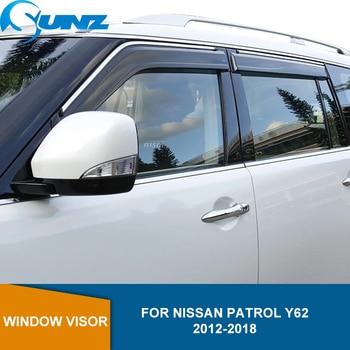 Smoke Car side Window Deflector For NISSAN PATROL Y62 2012 2013 2014 2015 2016 2017 2018 Sun Rain Deflector Guard SUNZ цена 2017