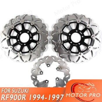 Para SUZUKI RF900R 1994 1995 1996 1997 disco de freno trasero delantero Rotor Kit motocicleta RF 900 R RF900 900R GSX GSF 1200 bandido