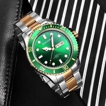 2019Top Brand Luxury WAKNOER Sport Watch Men Classic 50m Waterproof Date Clock Date Display Stainless Business Relogio Masculino