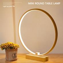Bedroom Bedside decoration Lamp Modern simple style Ring Shape Cozy innovative Reading LED Night Light desk table light