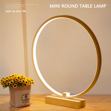 Bedroom Bedside decoration Lamp Modern simple style Ring Shape Cozy innovative Reading LED Night Light desk table light