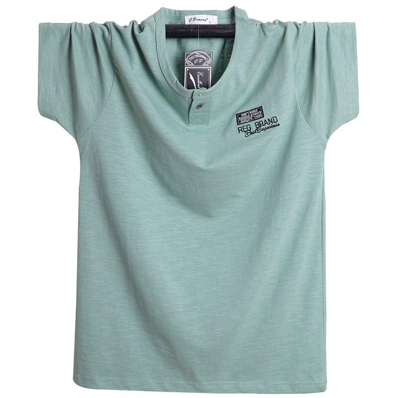 Plus Size XXXXL 5XL 6XL 2019 New Summer Brand T-Shirt Men Short Sleeve Loose Breathable Cotton Linen T Shirt Male Fashion