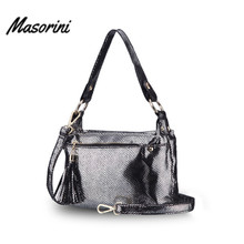 цена на 2020 Leather Bags Women Luxury Handbags Designer Crossbody Bags Female Shoulder Bags With Tassel Solid Color