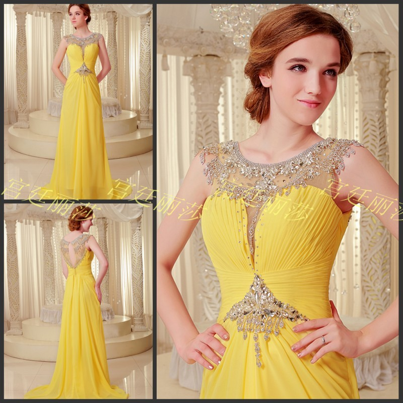 Free Shipping 2018 Luxury Crystal Formal Brides Beaded Long Sexy Evening Party Prom Gowns Graduation Mother Of The Bride Dresses