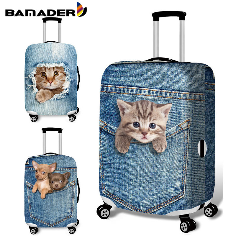 BAMADER Elastic Thick Luggage Cover Trolley Baggage Accessories Protective Cover High Elasticity Ladies Men Suitcase Dust Cover