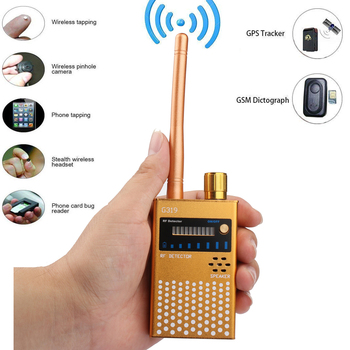 Super Anti-spy wireless Bug Detector RF Signal Detector GSM Listening Device Finder Radio Frequency Scanner new rf signal bug detector laser lens gsm device finder home security safety