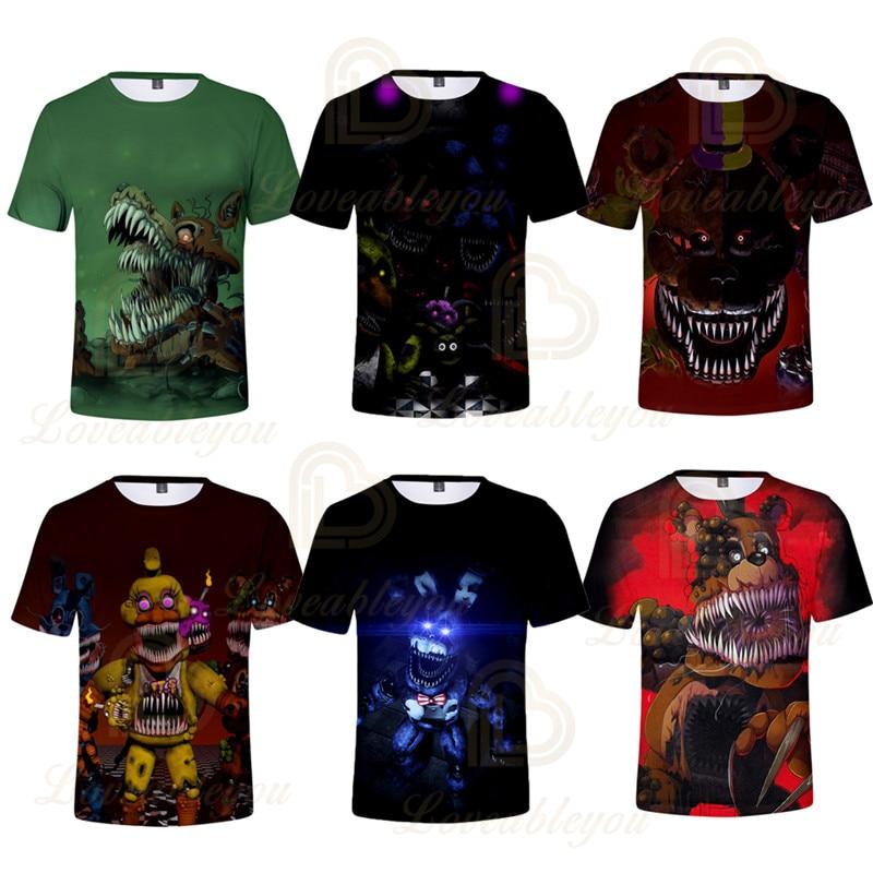 Five Nights At Freddy T Shirt Men 3d Print T-shirt O-Neck Tshirt 3d Print T-shirt Men Clothing Summer Children Tops