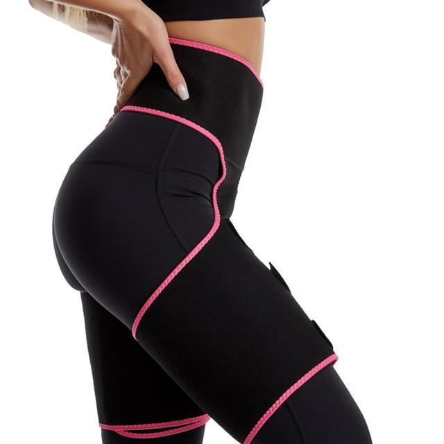Womens Hip Belt Burst Sweat Plastic Belt Sports Bodybuilding Adjustable One-piece Waist Belt Leg Belt 3