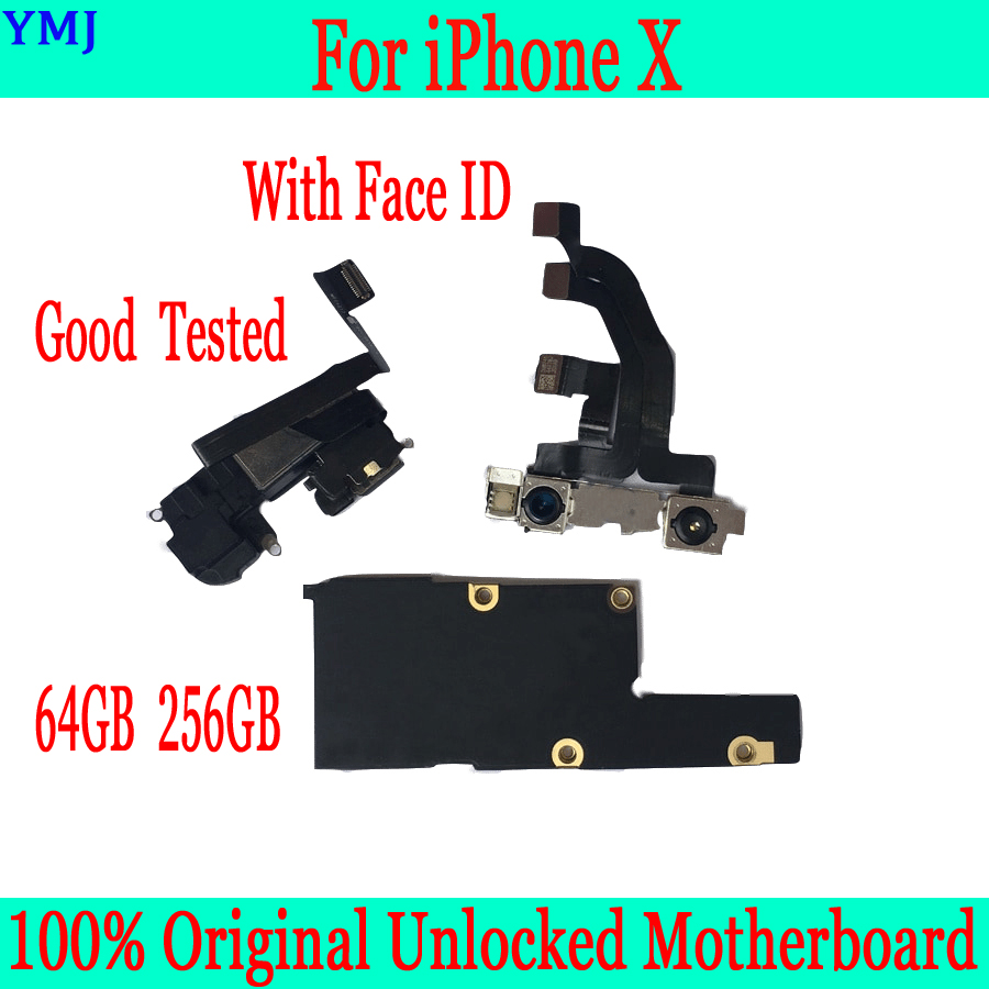 <font><b>With</b></font> IOS System for <font><b>iphone</b></font> <font><b>X</b></font> <font><b>Motherboard</b></font> 64GB 256GB 100% Original <font><b>unlocked</b></font> for <font><b>iphone</b></font> <font><b>X</b></font> Mainboard <font><b>with</b></font> <font><b>Face</b></font> <font><b>ID</b></font>,Clean iCloud image