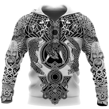 Beautiful Viking Tattoo 3D Printed Hoodie 1