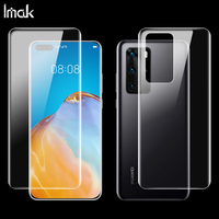 2PCS Full coverage for Huawei P40 Pro P40pro Screen protector Back cover protector Imak Hydrogel Phone Protective Film protect