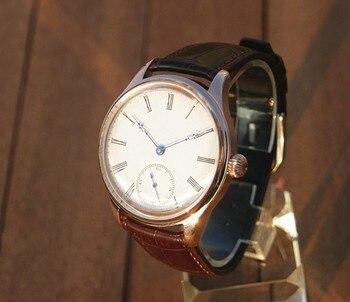44 мм GEERVO 2020 новые модные азиатские 6498 17 драгоценностей механические ручные ветрозащитные мужские часы с розовым корпусом механические часы...
