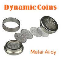 Dynamische Münzen (Metall legierung) Magie Tricks Für Zauberer Münze Erscheinen Magie Close Up Illusion Gimmick Requisiten Komödie