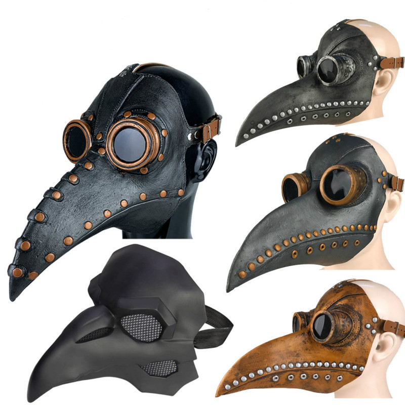 Pennywise Halloween Mask Funny Medieval  Steampunk Bird Doctor Mask Beak Adult Vocaloid Cosplay Props
