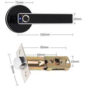 Image 5 - ประตูไฟฟ้าล็อค Biometric ลายนิ้วมือสมาร์ทล็อคสแตนเลส Keyless Security ล็อคลายนิ้วมือ 100 สำหรับความปลอดภัยภายในบ้าน