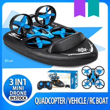 Mini Drone JJRC H36F 3in1 helicopter RC Boat car Quadcopter Vehicle Hovercraft K