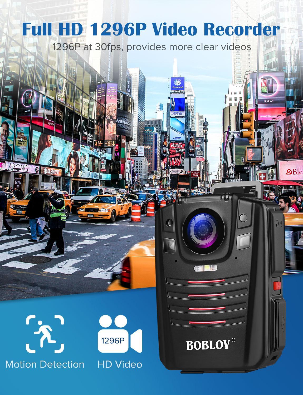 כורסאות טלויזיה BOBLOV HD66-07 גוף משטרת וידאו מצלמת DVR 64GB חוק אכיפת המצלמת 16X זום דיגיטלי 170 מצלמת Wide Angle ראיית לילה כיס (5)