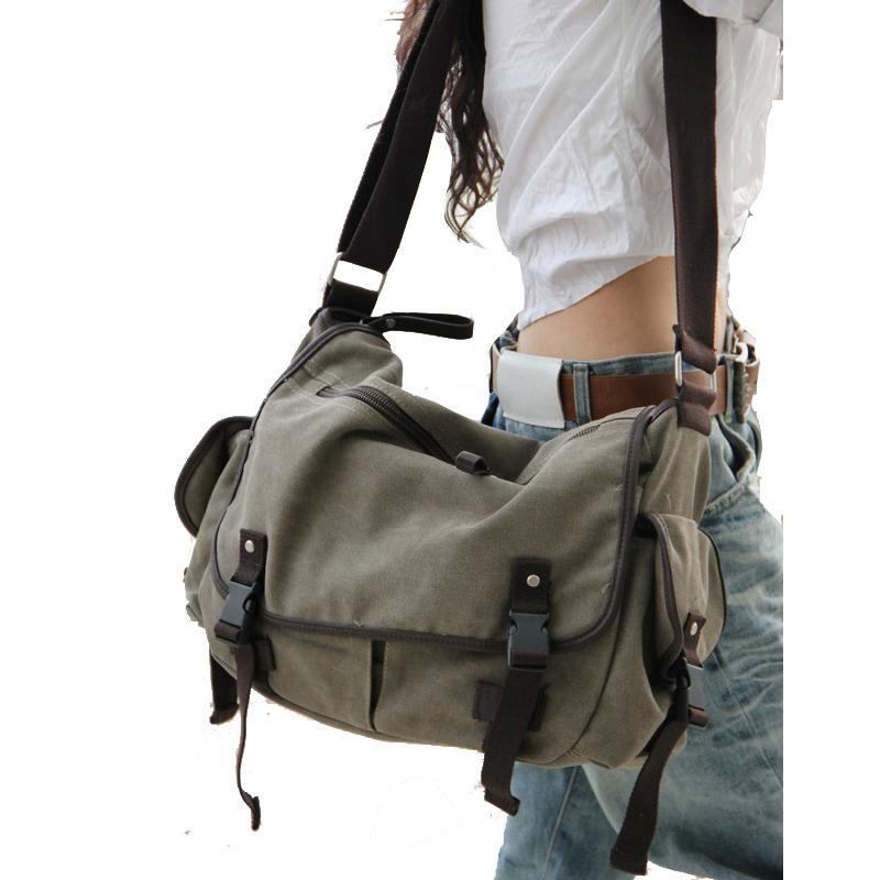 Large Capacity Vintage Canvas Messenger Bags For Women 2020  Laptop Shoulder School Ladys Travel Casual Tote Shoulder Feminina