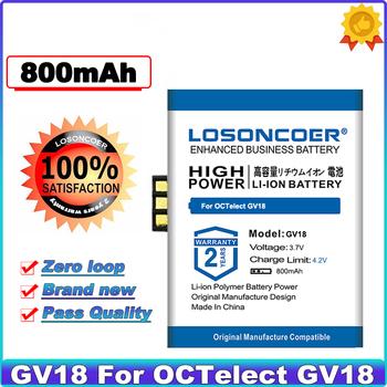 LOSONCOER nowy product 800mAh smartwatch z funkcją telefonu bateria do OCTelect GV18 bateria telefonu komórkowego tanie i dobre opinie 0-1300 mAh Kompatybilny ROHS